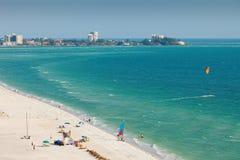 Spiaggia di Lido nel tasto di Siesta Immagine Stock Libera da Diritti