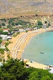 Spiaggia di Lindos Fotografia Stock Libera da Diritti