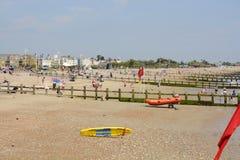 Spiaggia di Littlehampton sussex l'inghilterra Fotografia Stock Libera da Diritti