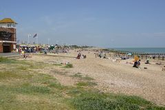 Spiaggia di Littlehampton sussex l'inghilterra Immagini Stock Libere da Diritti