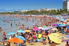 Spiaggia di Llevant, a Salou, la Spagna Fotografia Stock Libera da Diritti