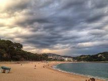 Spiaggia di Lloret de Mar Fotografia Stock