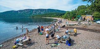 Spiaggia di Loch Ness Fotografie Stock