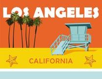 Spiaggia di Los Angeles California Fotografia Stock