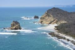 Spiaggia di Los Frailes, parco nazionale di Machalilla, Ecuador Immagini Stock