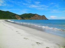 Spiaggia di Los frailes, parco nazionale di Machalilla l'ecuador fotografia stock libera da diritti