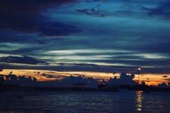 Spiaggia di Losari, Ujung Pandang-sud Sulawesi, Indonesia immagine stock libera da diritti
