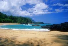 Spiaggia di Lumahai Immagine Stock