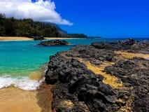Spiaggia di Lumahai Fotografia Stock Libera da Diritti