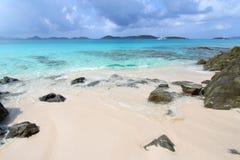 Spiaggia di luna di miele - st John (USVI) Fotografia Stock Libera da Diritti