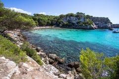 Spiaggia di Macarella, Menorca, Spagna fotografia stock libera da diritti