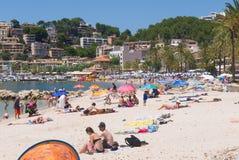 Spiaggia di Mallorca di estate fotografia stock