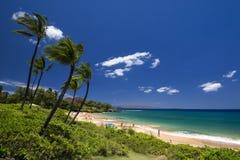 Spiaggia di Maluaka, Maui del sud, Hawai, U.S.A. Fotografia Stock Libera da Diritti