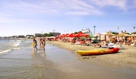 Spiaggia di Mamaia al Mar Nero Fotografia Stock Libera da Diritti