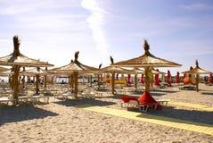 Spiaggia di Mamaia al Mar Nero Fotografia Stock