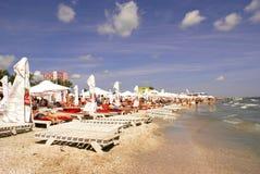 Spiaggia di Mamaia al Mar Nero Immagini Stock Libere da Diritti