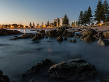 Spiaggia di Manganui del supporto ad alba Fotografie Stock