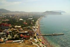 Spiaggia di Mar Nero Fotografie Stock