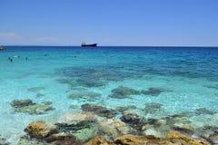 Spiaggia di marmo in Grecia - riva rocciosa 8 Fotografia Stock