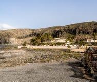 Spiaggia di marzo della palma Immagine Stock