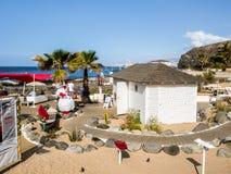 Spiaggia di marzo della palma Fotografia Stock Libera da Diritti
