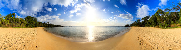 Spiaggia di 360 Masoala Fotografia Stock