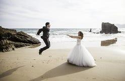 Spiaggia di matrimonio Immagini Stock
