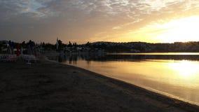 Spiaggia di mattina fotografia stock