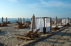 Spiaggia di mattina Immagini Stock
