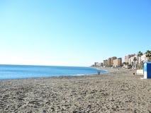 Spiaggia di Mediterainean nell'inverno Fotografia Stock