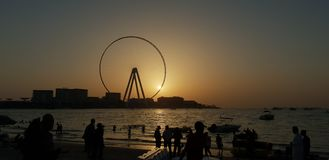 Spiaggia di Meetes di architettura moderna bella fotografie stock libere da diritti