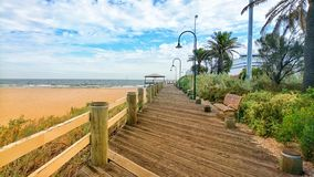 Spiaggia di Melbourne del porto Fotografia Stock Libera da Diritti