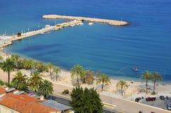 Spiaggia di Menton in Francia Fotografie Stock