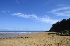 Spiaggia di Meron in Spagna Fotografia Stock Libera da Diritti
