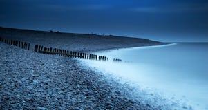 Spiaggia di mezzanotte Fotografia Stock