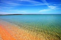 Spiaggia di Mia della scimmia Fotografie Stock