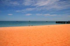 Spiaggia di Mia della scimmia Fotografia Stock Libera da Diritti