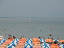 Spiaggia di Milano Marittima stock photography