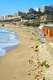 Spiaggia di miracolo a Tarragona, Spagna Fotografia Stock Libera da Diritti
