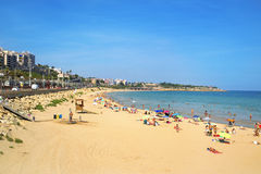 Spiaggia di miracolo a Tarragona, Spagna Fotografie Stock Libere da Diritti
