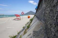 Spiaggia di Moledo un bello giorno soleggiato Fotografie Stock Libere da Diritti