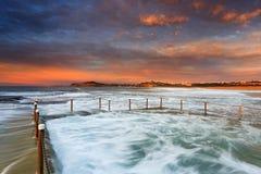 Spiaggia di Mona Vale Pool 2 del mare Fotografia Stock Libera da Diritti