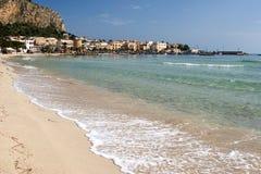 Spiaggia di Mondello Fotografie Stock
