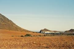 Spiaggia di Monsul, parco naturale di Cabo de Gata, Almeria, Spagna Fotografie Stock Libere da Diritti