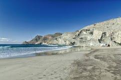 Spiaggia di Monsul, parco nazionale di Cabo de Gata, Almeria Fotografie Stock Libere da Diritti