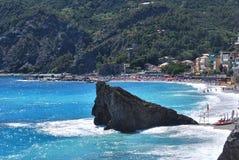 Spiaggia di Monterosso Immagine Stock Libera da Diritti