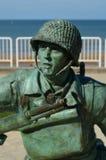 Spiaggia di Monument Memorial Omaha della protezione nazionale immagini stock libere da diritti
