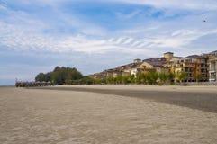 Spiaggia di Morib, Banting Immagini Stock Libere da Diritti
