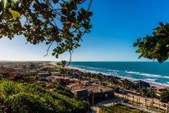 Spiaggia di Morro Branco da sopra Immagine Stock