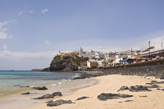 Spiaggia di Morro Jable Fotografia Stock Libera da Diritti